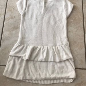 White nautical warm dress